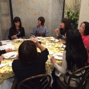 シェフハヤカワで開催されるルイロビション氏のセレクトワイン会のワイン会に参加されたお客様です。
